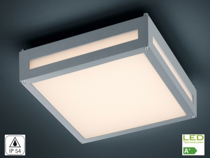 Decken-/Wandleuchte NEWA, Alu titan, inkl. 13, 5 W LED, 1000 Lm, 30cm - Vorschau 1