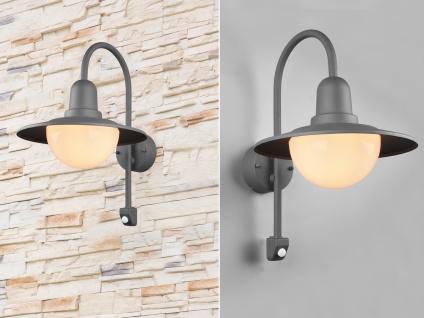 LED Außenwandleuchte in Anthrazit moderne Laterne - Außenwandlampen für Hauswand