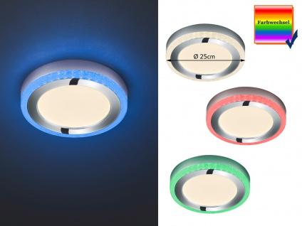 Dimmbare LED Deckenleuchte SLIDE Ø25cm Höhe 4cm mit Fernbedienung Farbwechsler