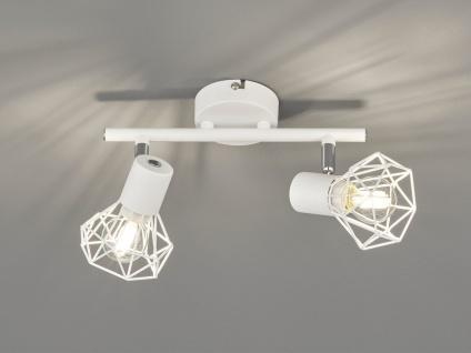 2 flammiger LED Wandstrahler Weiß Spots schwenkbar - Wandleuchte Flur Wohnzimmer