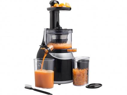 Slow Juicer - Entsafter mit einer hohen Saftausbeute von Obst und Gemüse