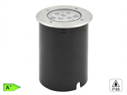 LED Bodeneinbaustrahler, Ø 14, 5 cm, 720Lm, IP65, belastbar bis 1500kg