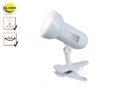 Klemmleuchte schwenkbar Klammerleuchte BASIC in Weiß, Schreitischlampe Leselampe