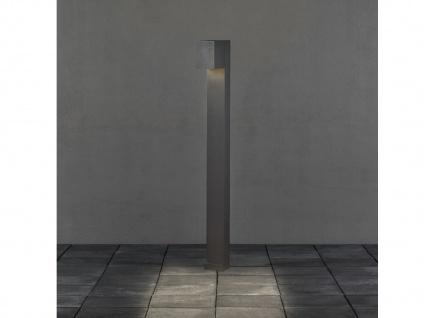 100cm hohe LED Gehwegleuchte aus ALU in anthrazit Lichtstrahl 0°-90° einstellbar - Vorschau 5