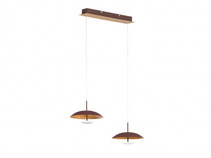 Höhenverstellbare LED Pendelleuchte Braun / Gold 9 Watt L. 61cm - Esstischlampen