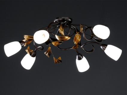 6-flammige Deckenleuchte, Rost antik / Gold, 84 x 73 cm, Honsel-Leuchten - Vorschau 1