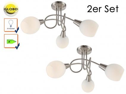 2x LED Deckenleuchte ELLIOTT, Glasschirme, Deckenlampen klassisch Wohnraum - Vorschau 1