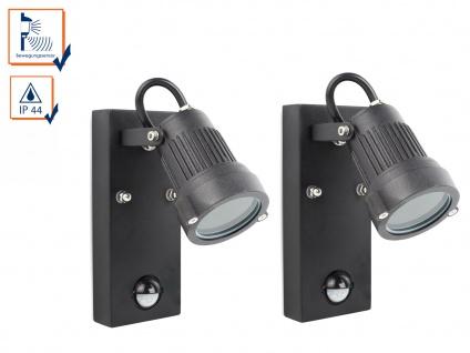 2er-Set Downlight Außenwandleuchten mit Bewegungssensor, GU10, 90° x 8 Meter - Vorschau 1