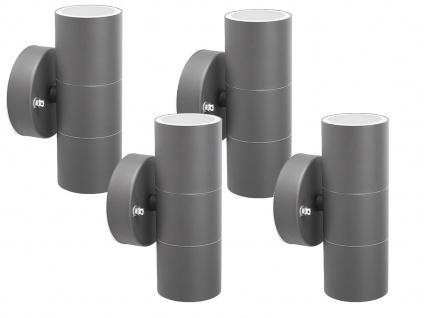 4er-Set Up-/Down Außenwandleuchten IP44, inkl. 2 x 3W LED 230 Lumen, GU10-Sockel - Vorschau 2