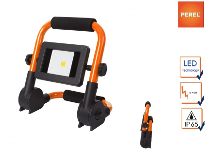 LED Baustrahler klappbar mit Sicherheitsglas, Fluter Arbeitsscheinwerfer außen