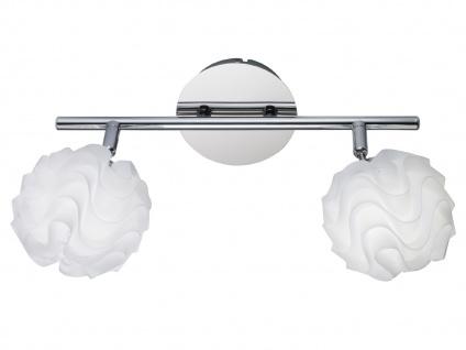 Design Deckenleuchte Strahler mit LED 2 Kugelspots Kunststoff Weiß schwenkbar