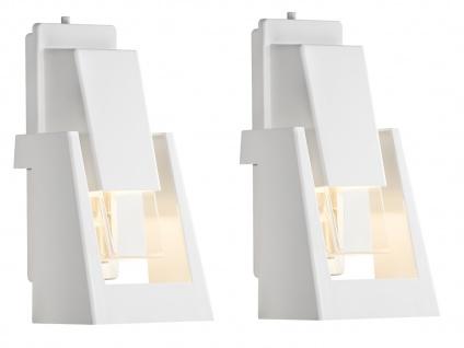 2er-Set dimmbare Außenwandleuchten POTENZA, 350Lm, austauschbares LED Modul