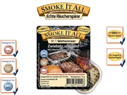 BBQ Räucherspäne Räuchermischung Räuchermehl m. Gewürzen WATTENMEER