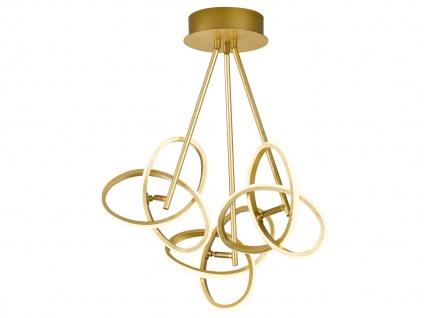LED Deckenleuchte in Blattgold-Optik 39W verstellbar - Designerleuchte Esszimmer