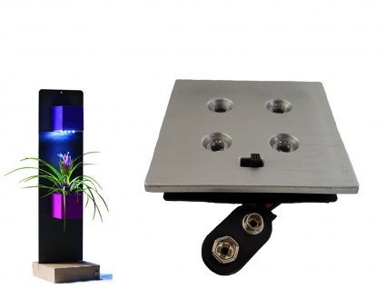 Wanddeko LED Beleuchtung für Topf Würfel Ø6cm, exl. 9V Batterie, KalaMitica