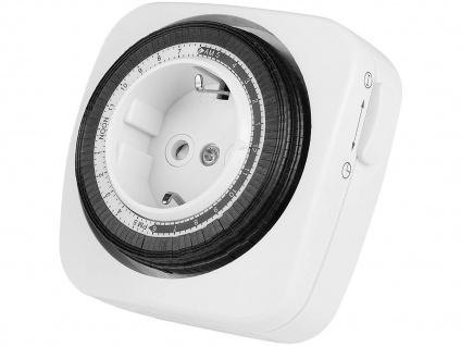 Mechanische Zeitschaltuhr für die Steckdose, Tages-Zeitschaltuhr, 24h-Programm
