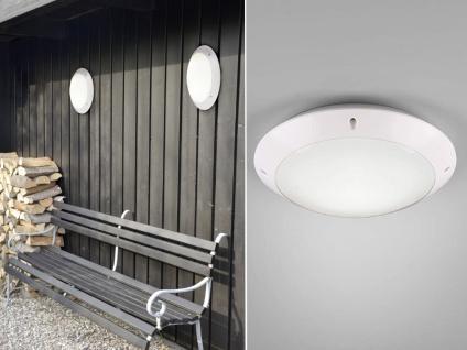 LED Außenwandleuchte Outdoor Deckenlampe Weiß Gartenbeleuchtung rund mit Strom