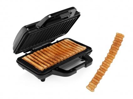 Waffel Pommes Maker für 15 Waffeln im Pommes Style Waffeleisen 28, 5x15, 2cm