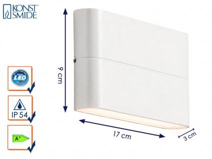 Up-/Down Außenwandleuchte Wandstrahler CHIERI weiß, 12 Watt-LED, 900 Lumen
