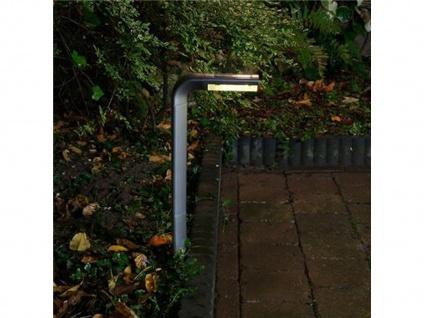 LED Solar Gartenpfosten Bianca, 0, 06W, 50cm, silbergrau, Kunststoff - Vorschau 3