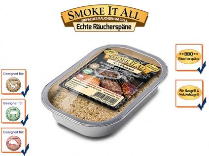 BBQ Räucherspäne Räuchermischung Räuchermehl mit Gewürzen FLUSSAUE