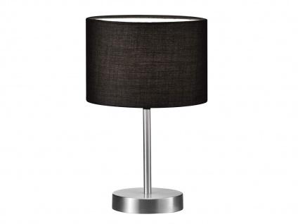 Design Nachttischleuchte Lampenschirm Stoff rund schwarz Ø20cm E14 - Flurlampen