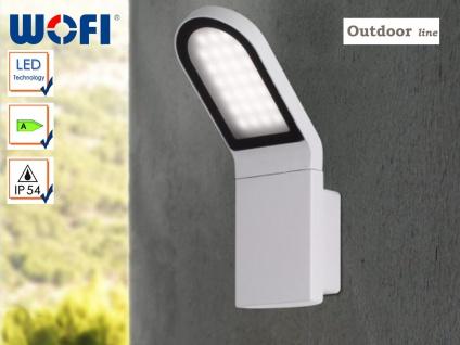 Außenleuchte LED / Außenwandleuchte grau, Wofi-Leuchten