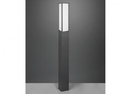 LED Außenwegeleuchte in Anthrazit eckige Pollerleuchten Gartenlampen mit Strom - Vorschau 4