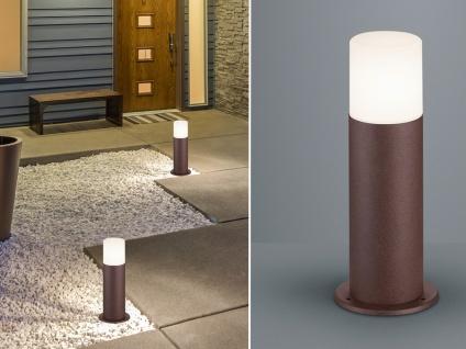Außenwegeleuchten Rostoptik LED Sockelleuchten Outdoor Stehlampen für den Garten