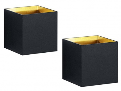 2 Kubusförmige LED Wandleuchten in schwarz matt 10x10x10cm Wandspot Würfelform