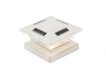 LED Garten Solarlampe für Zaunpfost, Terrassenbeleuchtung, Balkongeländer, weiß - Vorschau 2