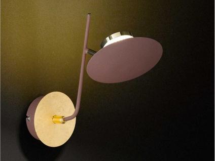 Klassische LED Wandleuchte Braun / Gold Spot schwenkbar 4, 5W - Wandbeleuchtung