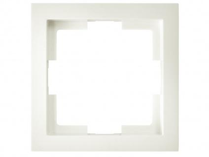 1-fach Rahmen / Schalterblende Modul in Cremeweiß, eckig, GAO