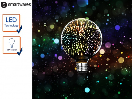 LED Deko Leuchtmittel E27 3, 5 Watt, Stimmungsleuchtmittel 3D-Effekt, Partylicht
