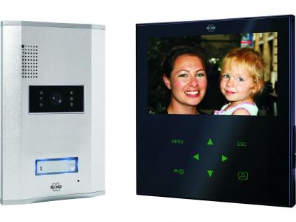 Video Türfreisprechanlage schwarz Touchscreen, Sprechanlage Einfamilienhaus