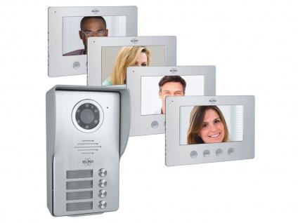 Mehrfamilien Video Gegensprechanlage mit Nachtsichtkamera - Wechselsprechanlage