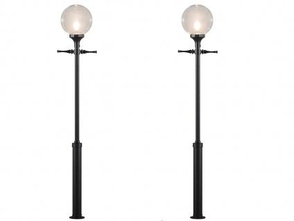2er Set Außenstehleuchte Straßenlaterne schwarz, Gartenbeleuchtung, Konstsmide