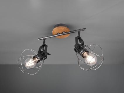 Vintage LED Deckenstrahler, Küchendeckenlampe mit schwenkbaren Drahtkorb Spots