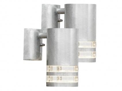 2er-Set Wandleuchte MODENA galvanisierter Stahl, GU10, Höhe 13, 5 cm