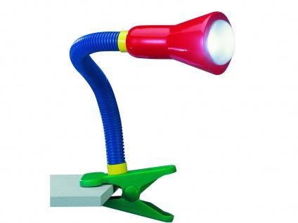 TRIO Schlauch-Klemmlampe, E14, Höhe 45cm flexibel multicolor