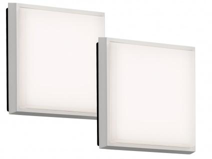2er-Set LED Wandleuchten / Deckenleuchten CESENA eckig weiß, 10W, 900 Lm, IP54 - Vorschau 2