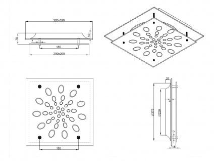 LED Deckenlampe Wandleuchte mit Dimmer aus Glas quadratisch fürs Ankleidezimmer - Vorschau 4
