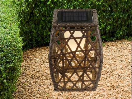 LED Solarstehlampen 2er SET für draußen, Gartendeko mit Geflecht-Design, braun - Vorschau 4