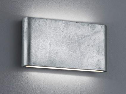 LED Außenwandlampe mit UP and DOWN Zinkoptik Breite 17, 5cm - Hausbeleuchtung