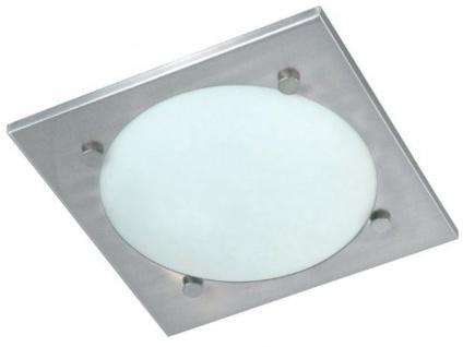 Bad Deckenlampe aus Edelstahl mit dimmbare LED, Badezimmerlampe Badleuchte Decke