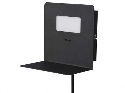 LED Wandleuchte Schwarz USB Anschluss & Ablage Nachttisch Wandlampen fürs Bett - Vorschau 2