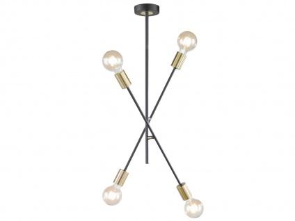 Deckenleuchte Retro Desing 4x LED Arme schwenkbar Schwarz/Gold - fürs Esszimmer