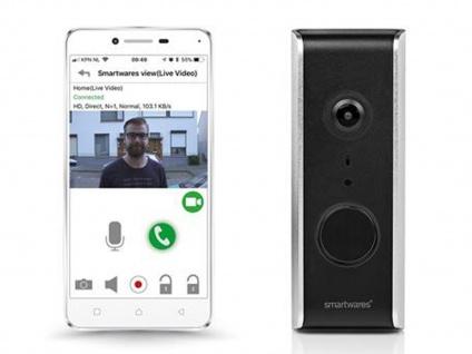 WiFi Videotürklingel HD Kamera, Haussprechanlage mit Nachtsicht, Smartphone App - Vorschau 4