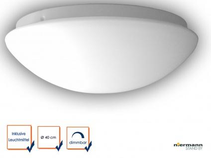 LED Deckenleuchte OPALGLAS matt Deckenschale rund Glas Ø40cm Küchenlampe dimmbar