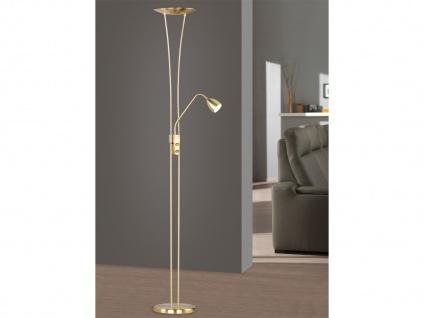 LED-Fluter, ink. COB-LEDs, Höhe 180cm, Doppeldimmer, Messing matt